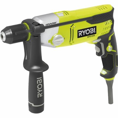Ryobi Percussion Drilling Machine 1200W 2-speed with LED RPD1200-K