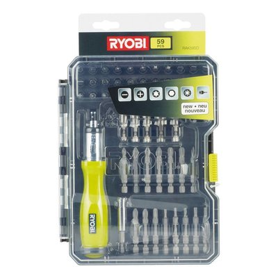 Ryobi RAK59SD for Hammer Drills and Drill Bit Set 59 Pieces
