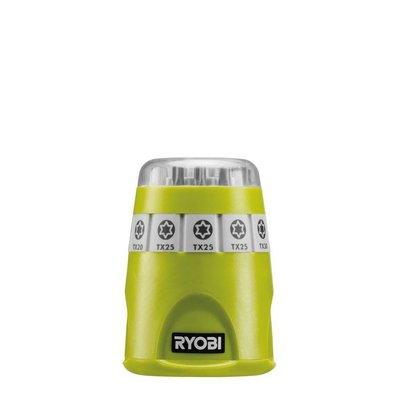 Ryobi Set Torx Bits mit magnetischer Bithalter + Clip Strip mit S Haken RAK10TSD