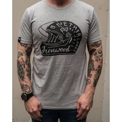 Helmet Tee Grey - T-shirt