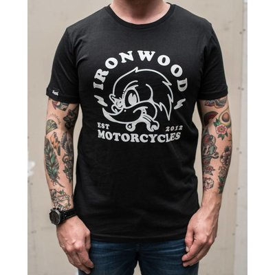 Ironwood Motorcycles Woodpecker Tee Black - T-shirt