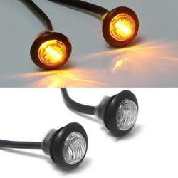 Amber 12V runde Mini-LED-Anzeige