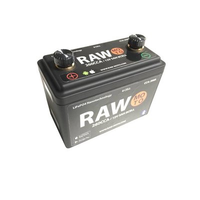 Raw Moto 260CCA SMART Bluetooth Lithium Battery #2