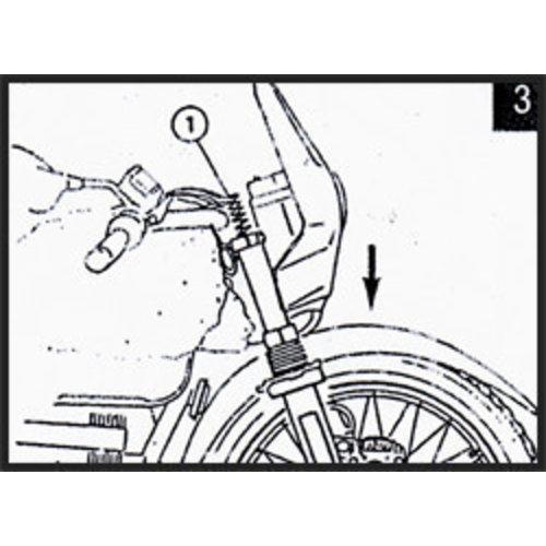 Hagon Honda NTV 650/ Revere 88> Voorvork Veren Set