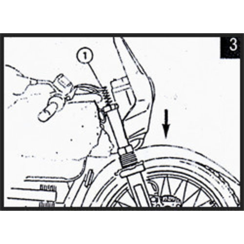 Hagon Honda CB 1100 F Bol d'or 83> Voorvork Veren Set
