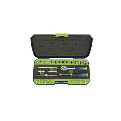 "Tirax socket wrench set 1/4 ""43-piece"