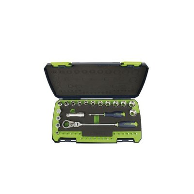 "Tirax socket set 3/8 """" go trough ""38-piece"