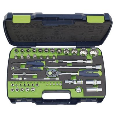 "Tirax socket wrench set 1/4 ""& 1/2"" 65-piece"