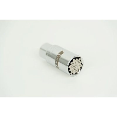 "Tirax Universele 3/8""dopsleutel 9-21mm incl. 43 staalstiften"