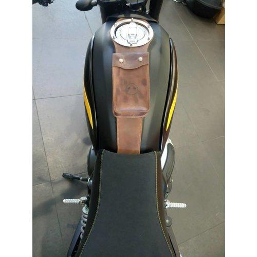 Motard Germany Ducati Scrambler Tankstrap mit Tasche (wählen Sie die Farbe)
