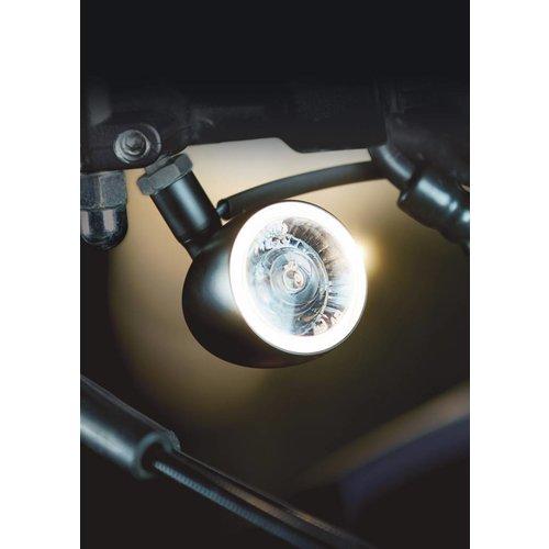 Kellermann Indicator / witte markeerlicht Bullet 1000 PL mat chroom