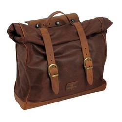 Single Side Satteltasche Large gewachste Baumwolle Marron Brown