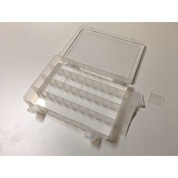 Sortierbox transparent 250 x 185 x 40 mm variabel (20)