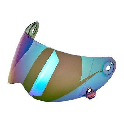 Biltwell Lane Splitter Anti Fog Visor Mirror Rainbow