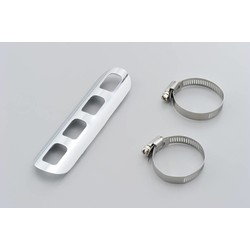 Muffler Guard Straight Punched Chrome