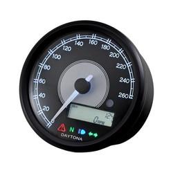 Velona 260 km/h & RPM Teller Zwart 80MM
