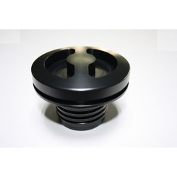 Fuel cap Round Black; R2V '76>