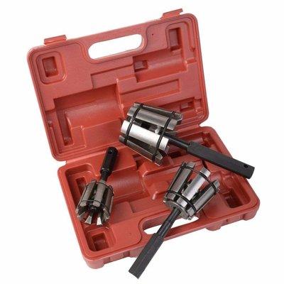 3-piece Exhaust Reamer set Ø 28 - 89 mm incl. Case