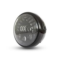 """7.7 """"Multi LED Headlight + Indicators Black"""