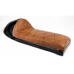 Cafe Racer Sitz Chocolat Diamond Stitch braun Typ 69 lange