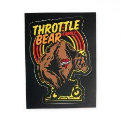 Throttle bear Sticker