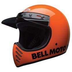 Casque orange vif Moto3 classique