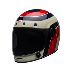 Bullitt Carbon Helm Hustle Matt / Glanz Rot / Sand / Candy Blau