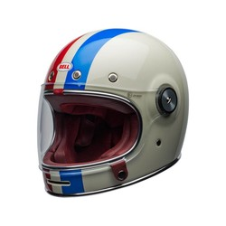 Bullitt DLX Helm Command Gloss Vintage Wit / Rood / Blauw