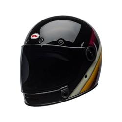 Bullitt DLX Helm Burnout Glanz Schwarz / Weiß / Maroon
