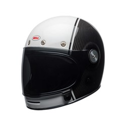 Bullitt Carbon Helm Gloss White / Carbon Pierce