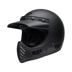 Moto-3 Helmet Classic Matte/Gloss Blackout