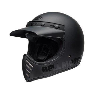 Bell Moto-3 Helm Classic Matte / Gloss Blackout