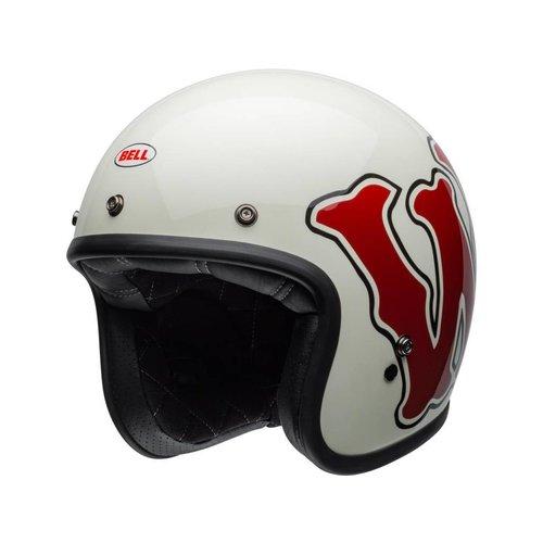 Bell Custom 500 DLX SE Helm RSD WFO Glanz Weiß / Rot