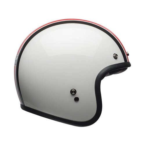 Bell Custom 500 Helm Ace Café Stadium Glanz Silber / Rot / Schwarz