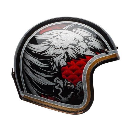 Bell Custom 500 Carbon Helm Osprey Gloss Zwart / Geel