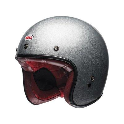 Bell Custom 500 Helm Gloss Silver Flake