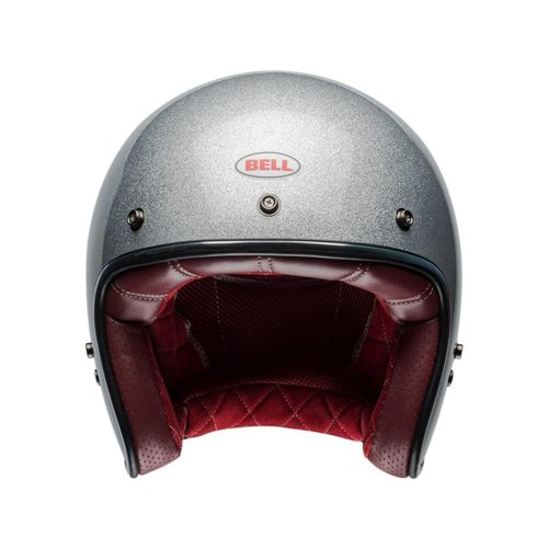 Bell Custom 500 Helm Gloss Silver Flake