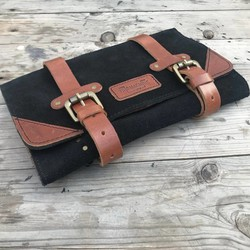 Tool Roll - Black + Tan