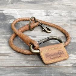 Braided Key Chain -Tan