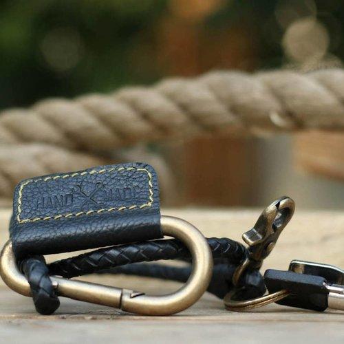 Trip Machine Gevlochten sleutelhanger -Zwart