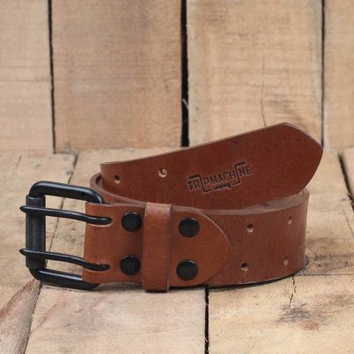 Trip Machine Riem - Vintage Tan dubbele pin