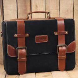 Hybrid Saddlebag - Black + Tan