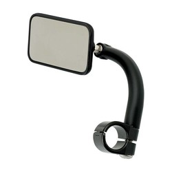"Rectangle Utility Mirror Clamp-On-1"" Black"