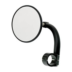 "Round Utility Mirror Clamp-On-1"" Black"