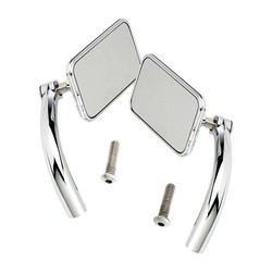 Rechthoek Utility Mirror Set Perch Mount Chrome