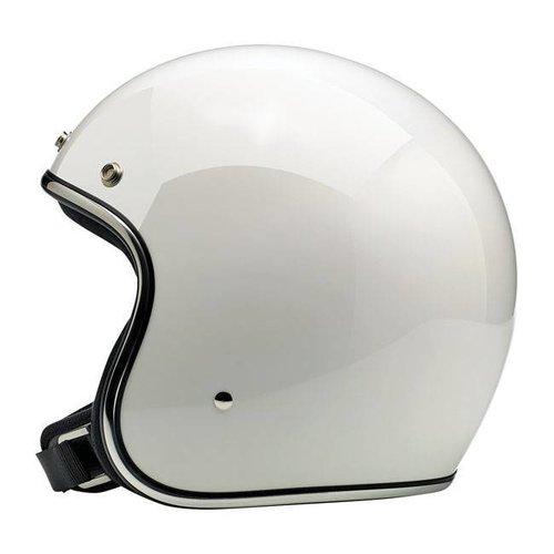 Biltwell Bonanza 3/4 Open Face Helmet Gloss White