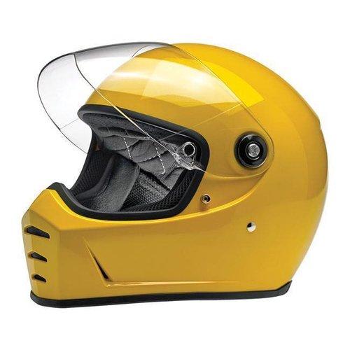 Biltwell Lane Splitter Helme Gloss Safe-T Yellow ECE Approved