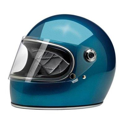 Biltwell Gringo S Helmet  Gloss Pacific Blue ECE Approved