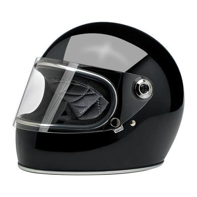 Biltwell Gringo S Helmet Gloss Black ECE Approved