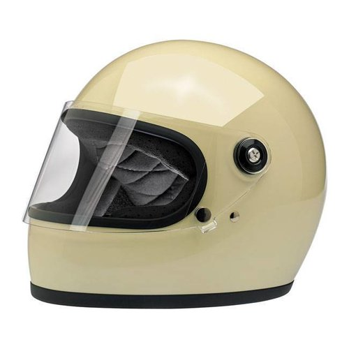 Biltwell Gringo S helm Gloss Vintage White ECE goedgekeurd